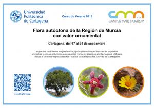 Tarjeta-presentacion-A5-curso-verano-UPCT-flora-autoctona-ornamental