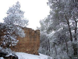 La nevada en el Castillo del Portazgo Superior (6 cm de nieve)