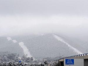 La nevada en los cortafuegos del Puerto de la Cadena