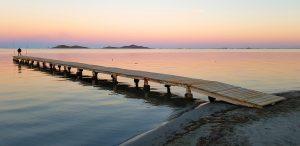 Puesta de sol junto al pantalán de Punta Brava. 17-X-2017