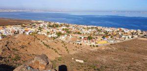 El Mar Menor, un medio día de invierno, con vistas a Punta Brava, desde vértice geodésico Carmolí (113 m). 24-XI-2017